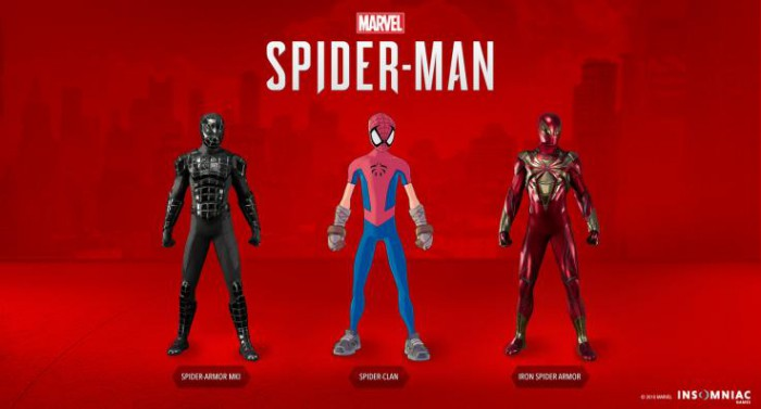 Costumes inédits DLC 2 Spider,Man PS4  Turf Wars