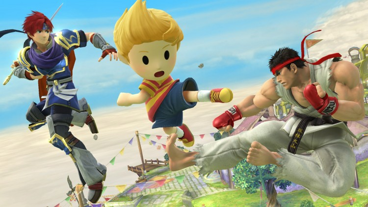 Ryu, Roy et Lucas Super Smash Bros