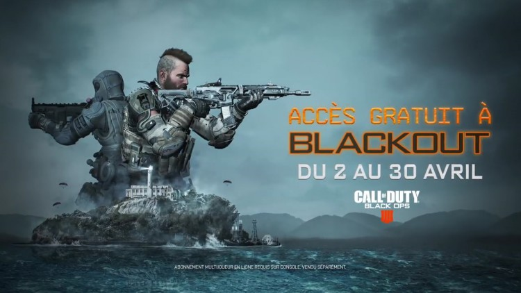 Call Of Duty Black Ops 4 Blackout gratuit et carte Alcatraz gratuite