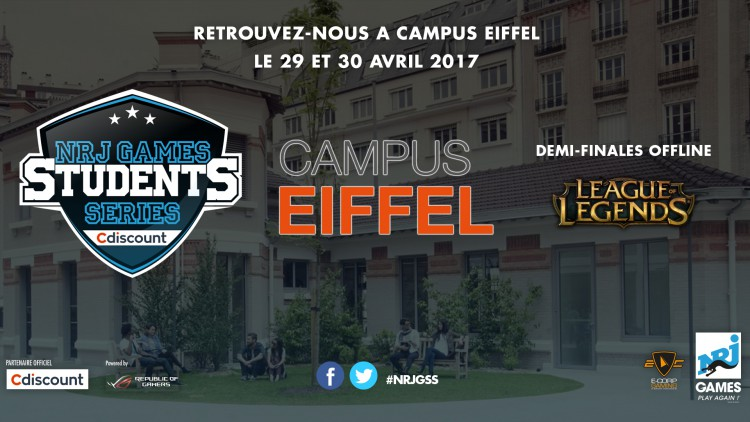 NRJ GAMES STUDENTS avec Cdiscount : LES DEMI-FINALES LEAGUE OF LEGENDS